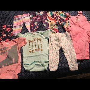 Bundle of 8 Infant Girls, size 6 months.